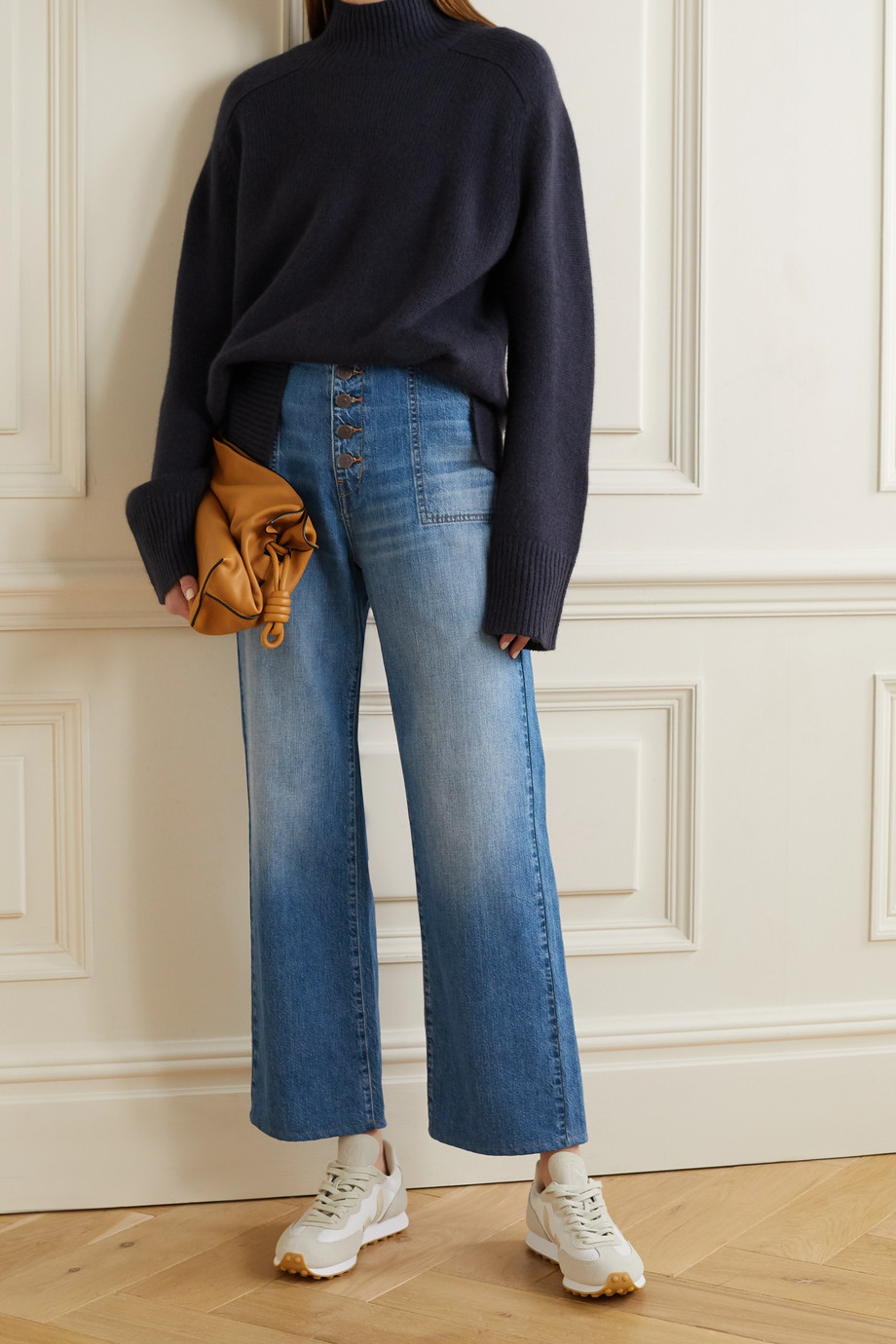 VERONICA BEARD Crosbie cropped high-rise wide-leg jeans