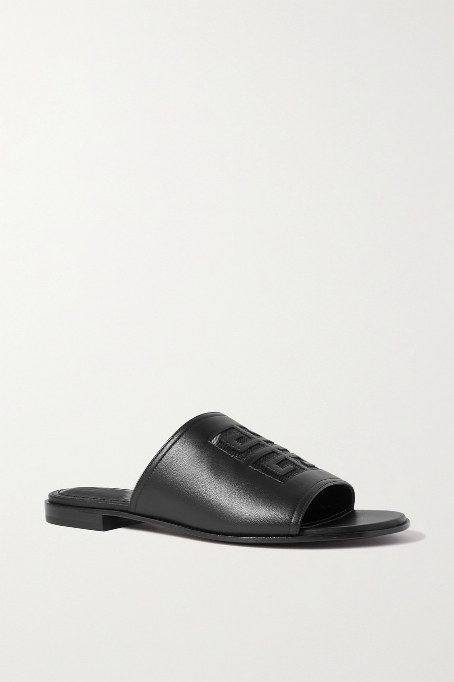 GIVENCHY Logo-embossed leather sandals