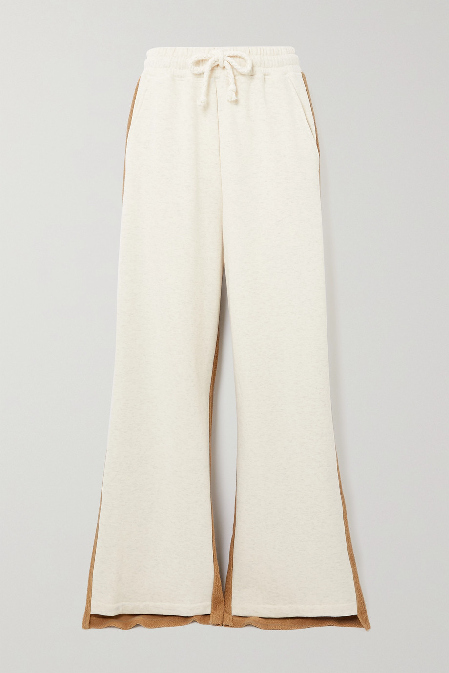 JW ANDERSON Paneled cotton-terry and jersey track pants