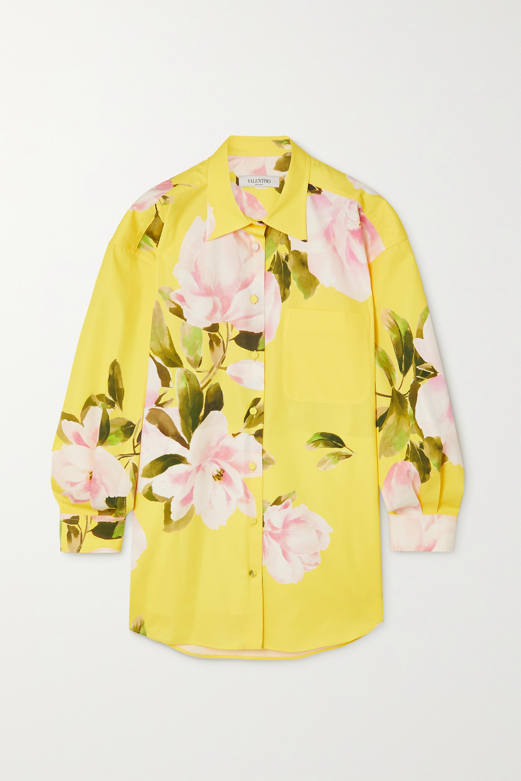 VALENTINO Floral-print cotton and silk-blend jacket