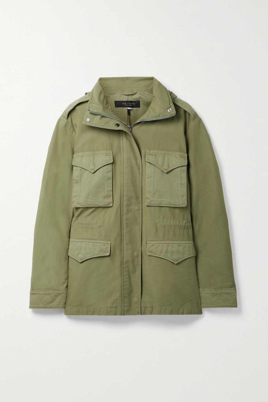 RAG & BONE Field M65 hooded twill-trimmed cotton-canvas jacket