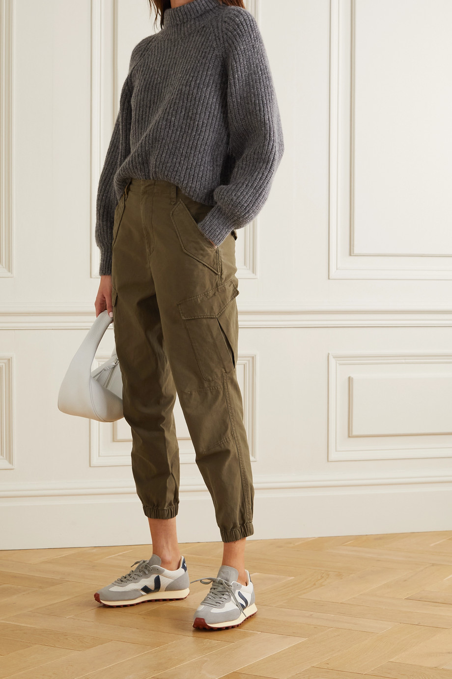 RAG & BONE Field cotton-twill tapered pants