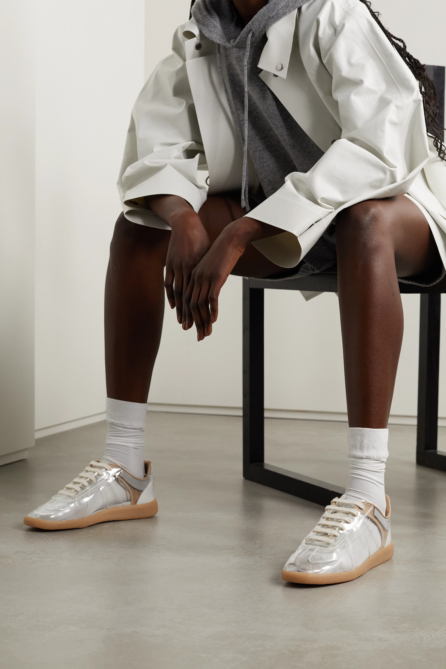 MAISON MARGIELA Replica PVC and suede sneakers