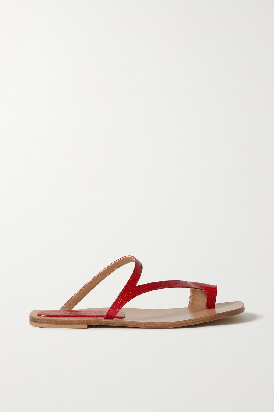 DRIES VAN NOTEN Donna lizard-effect leather sandals