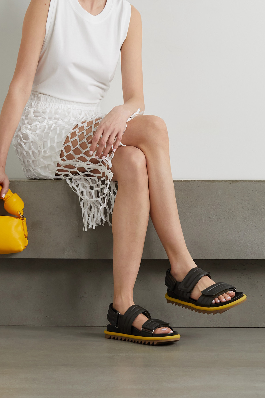 DRIES VAN NOTEN Quilted leather sandals