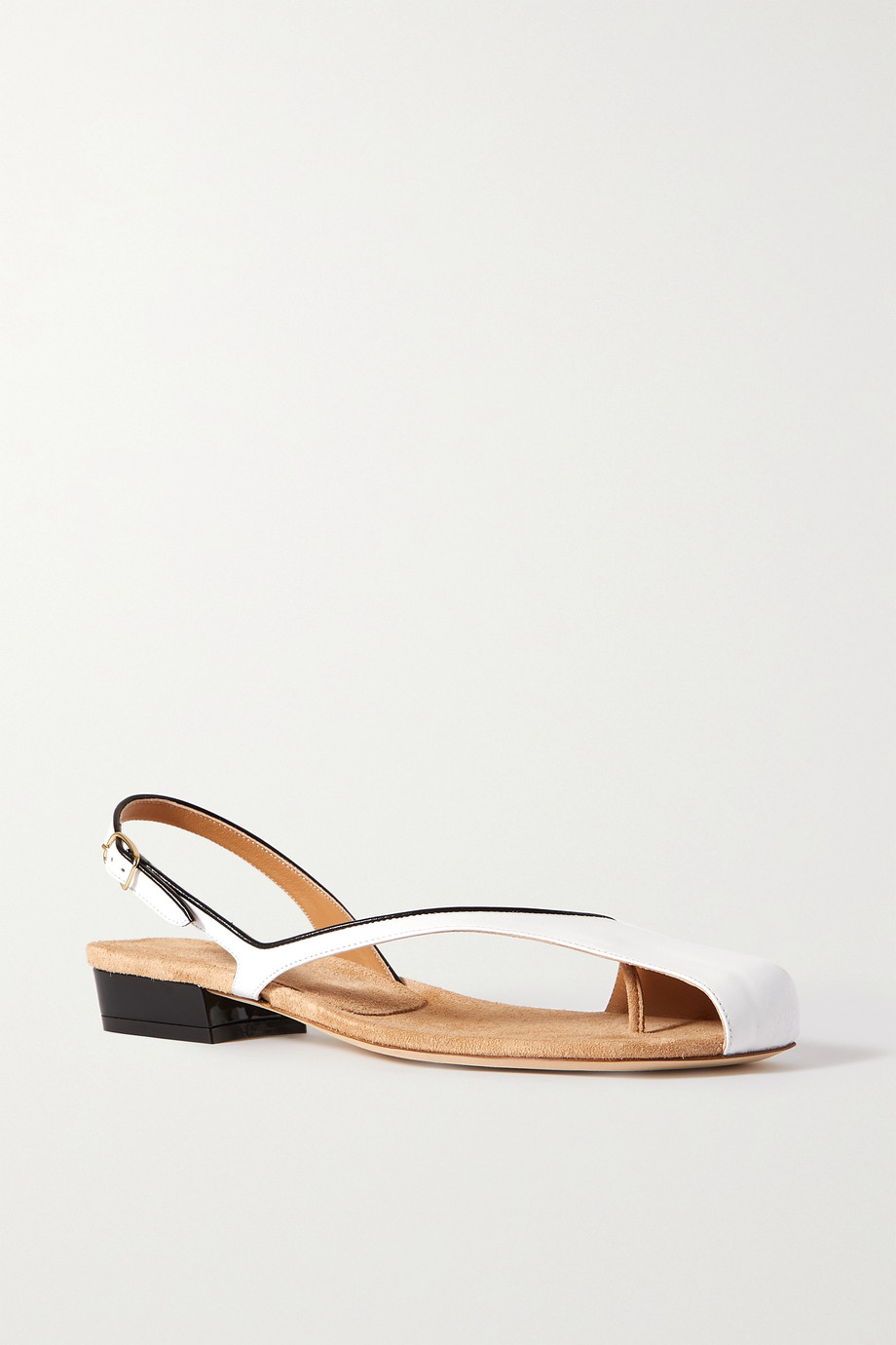 DRIES VAN NOTEN Donna two-tone leather sandals