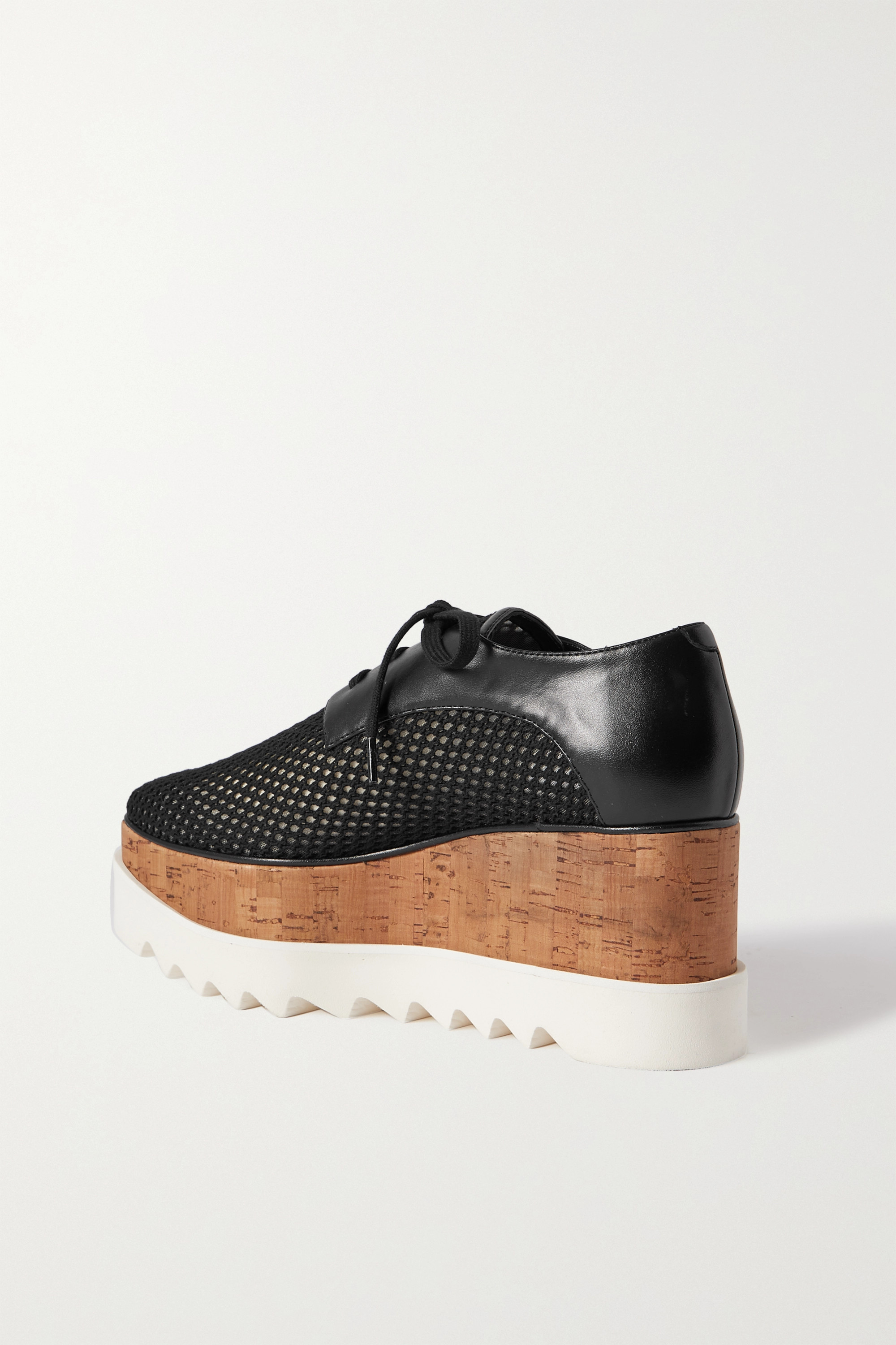 STELLA MCCARTNEY Elyse mesh and vegetarian leather platform brogues