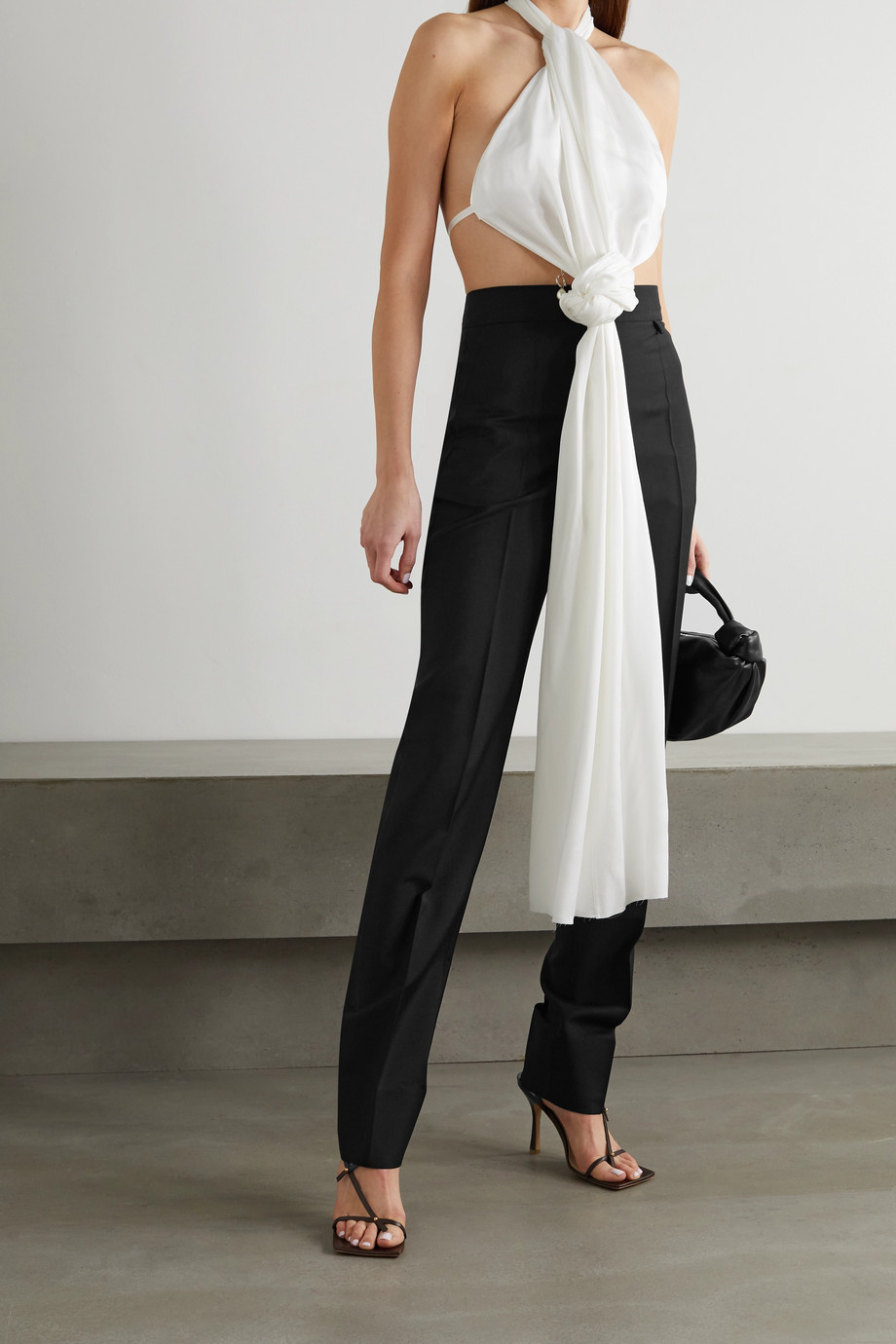 GIVENCHY Pleated wool and mohair-blend tapered pants