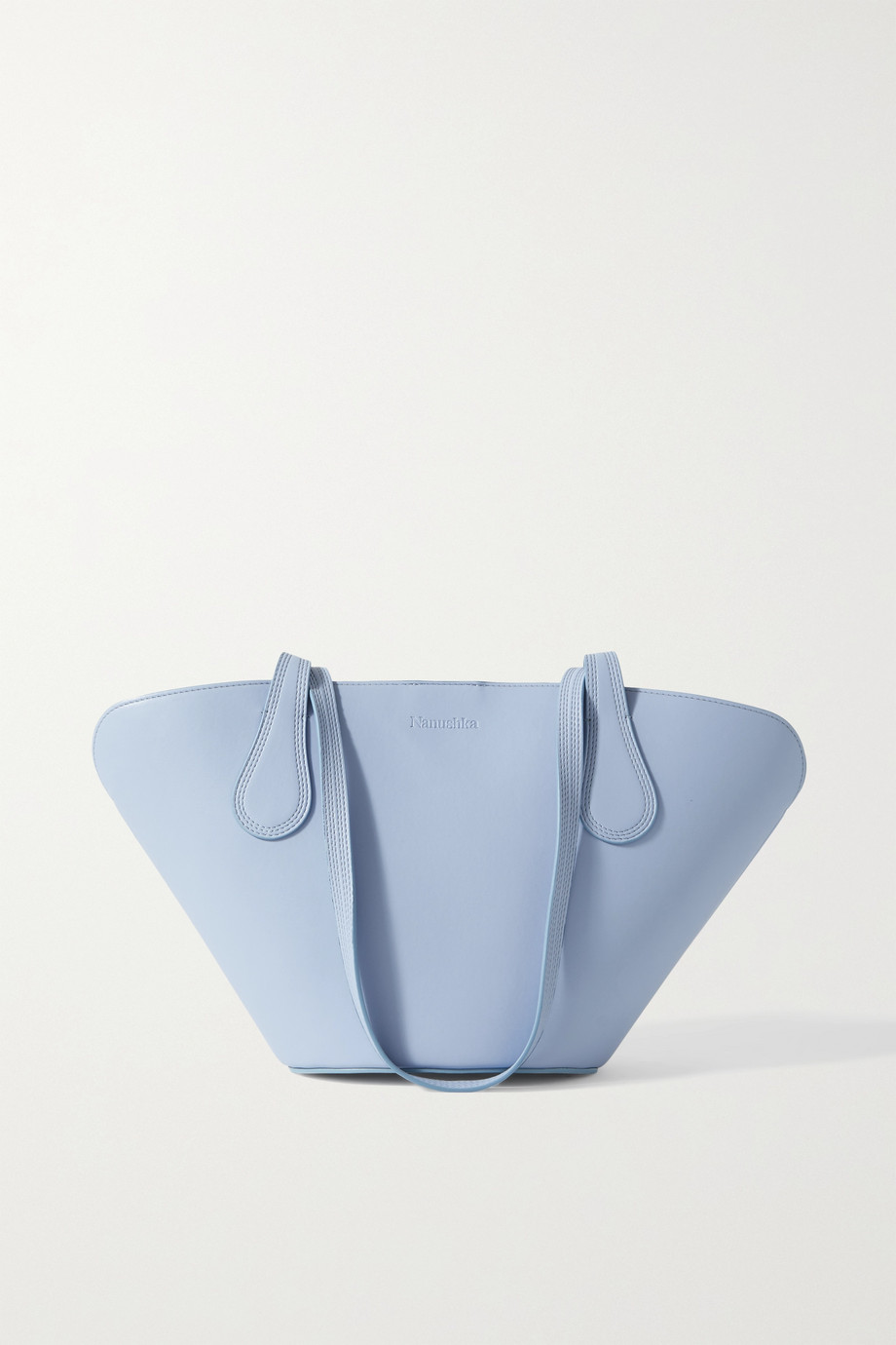 NANUSHKA Juno vegan leather tote,Sky blue