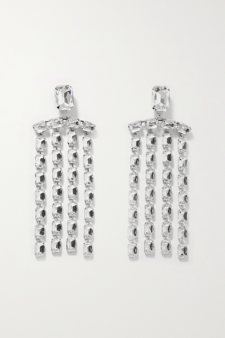 AREA Silver-tone crystal earrings