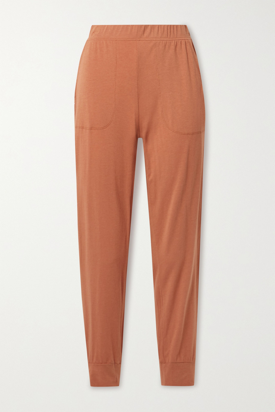 SKIN Moira stretch Pima cotton and modal-blend track pants