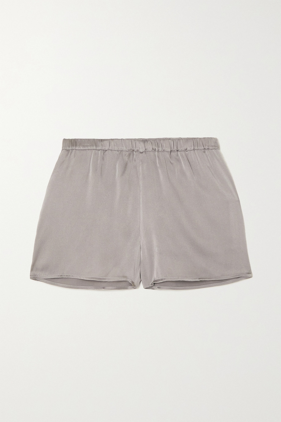 SKIN Trista stretch-silk satin shorts