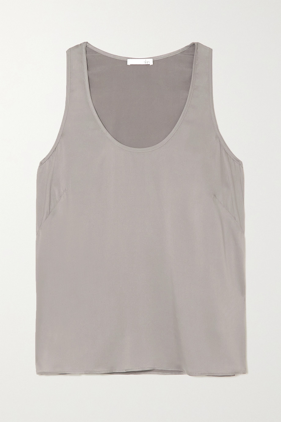 SKIN Topaz stretch-silk satin tank
