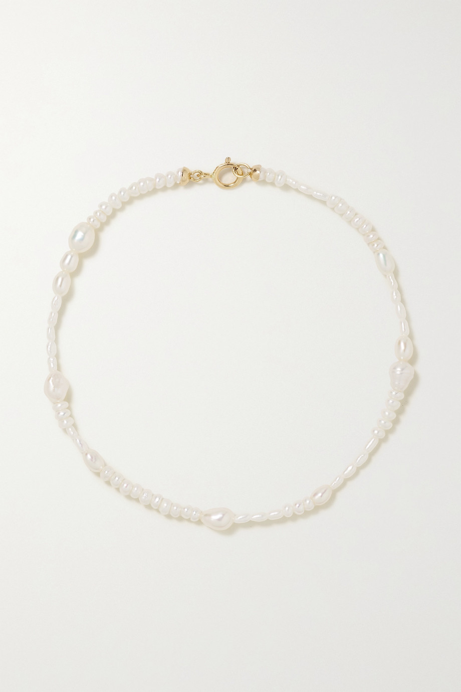 WWAKE Collage gold pearl bracelet