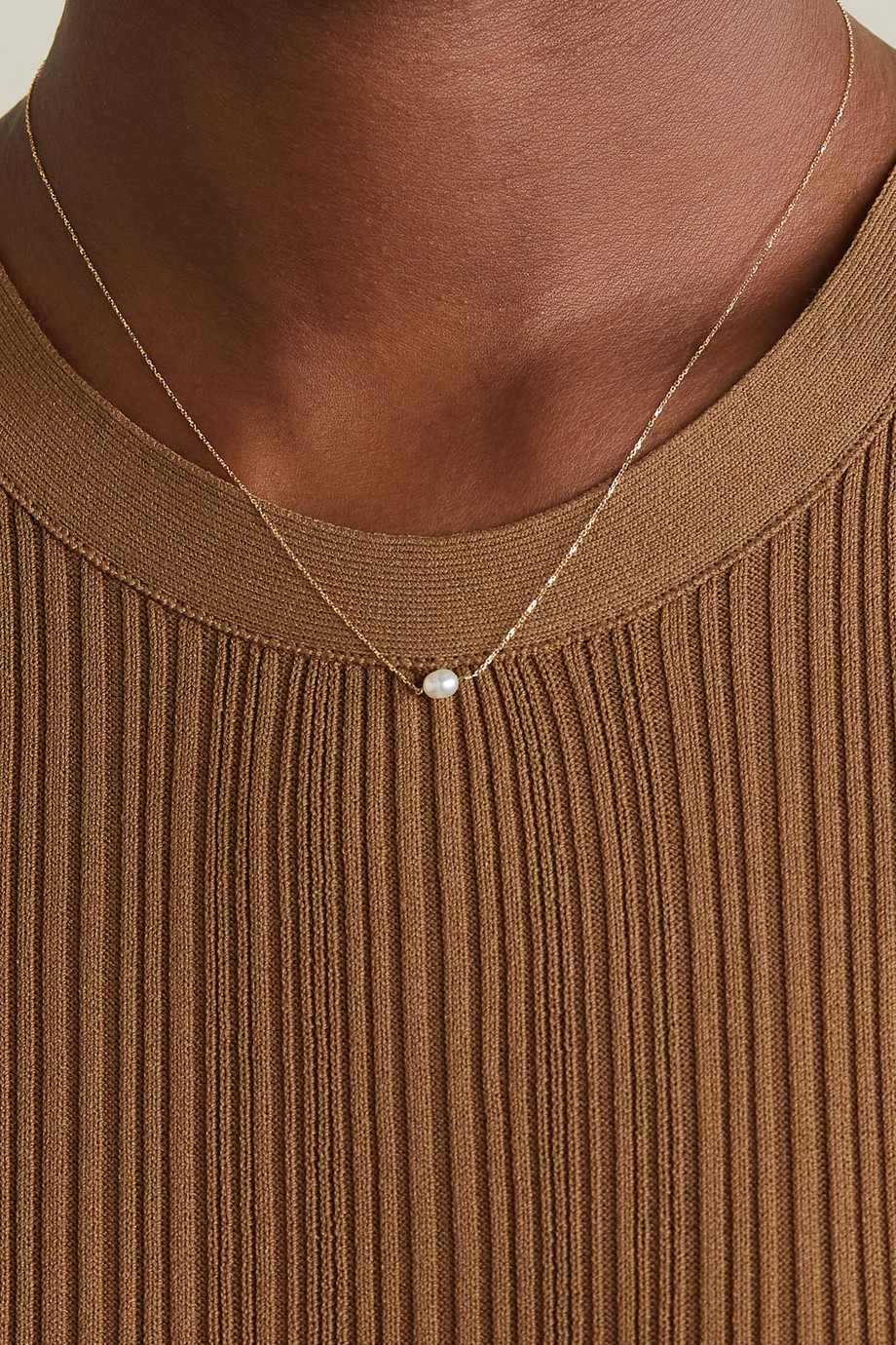 WWAKE Gold pearl necklace