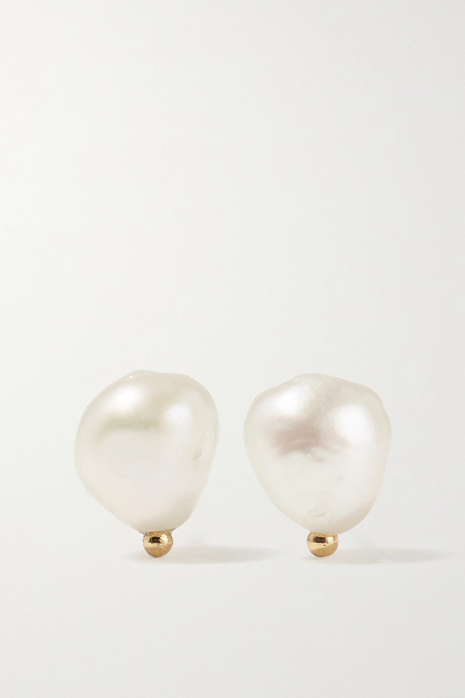 WWAKE Gold pearl earrings