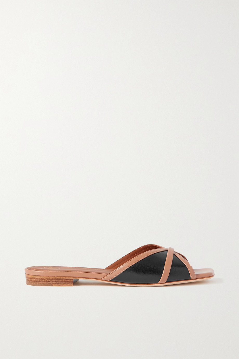 MALONE SOULIERS Perla 10 two-tone leather slides