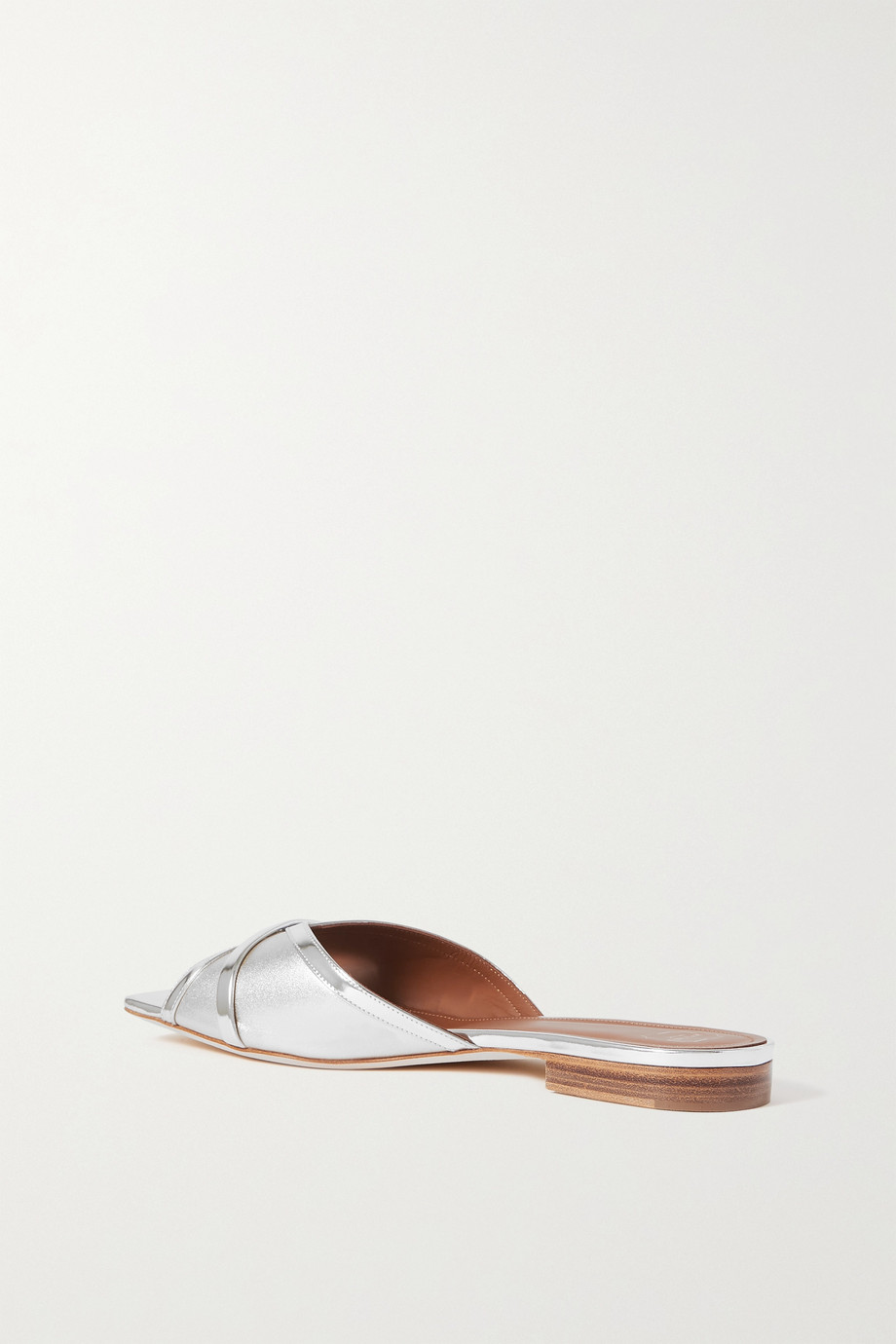 MALONE SOULIERS Perla 10 two-tone metallic leather slides