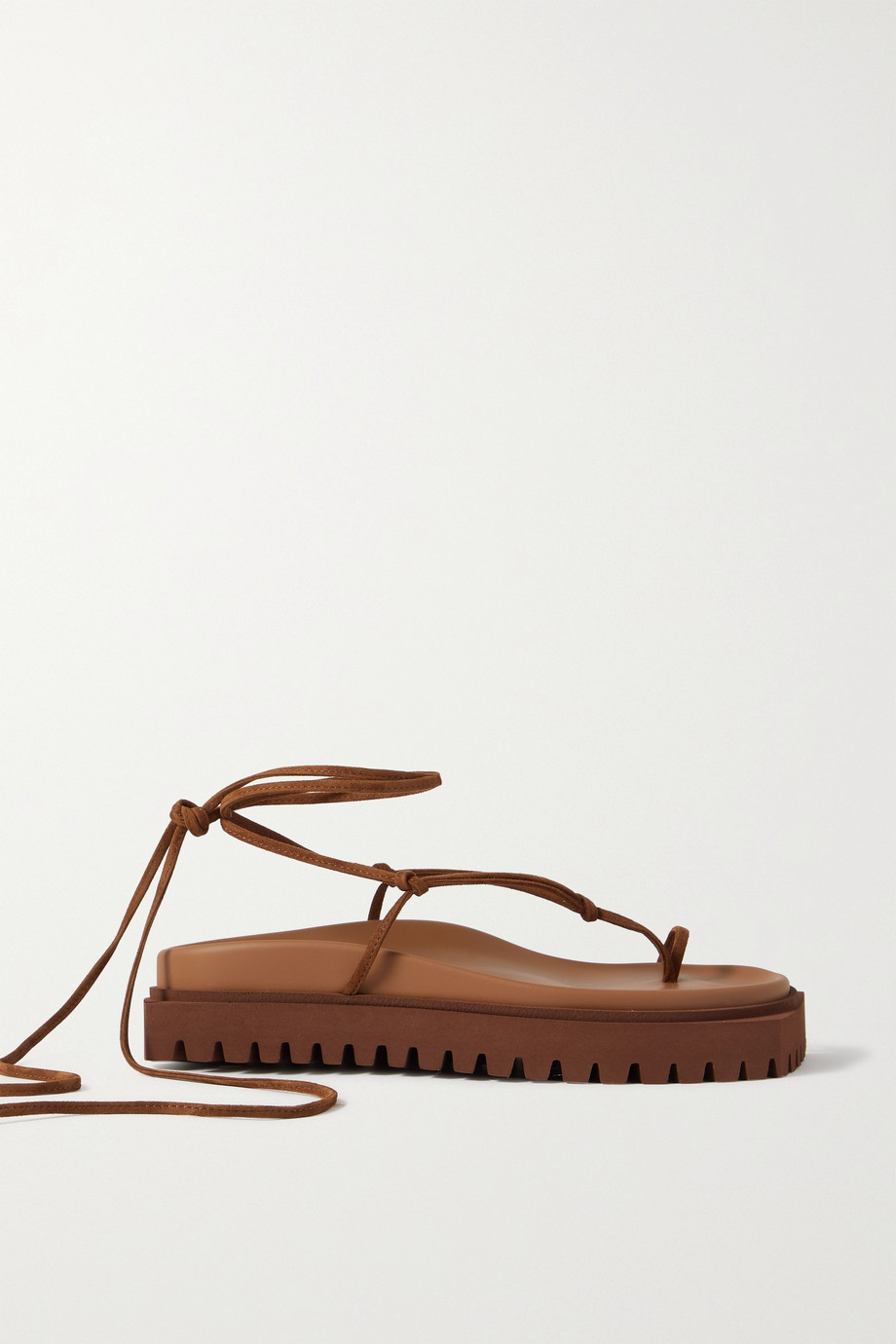 THE ATTICO Renee suede platform sandals