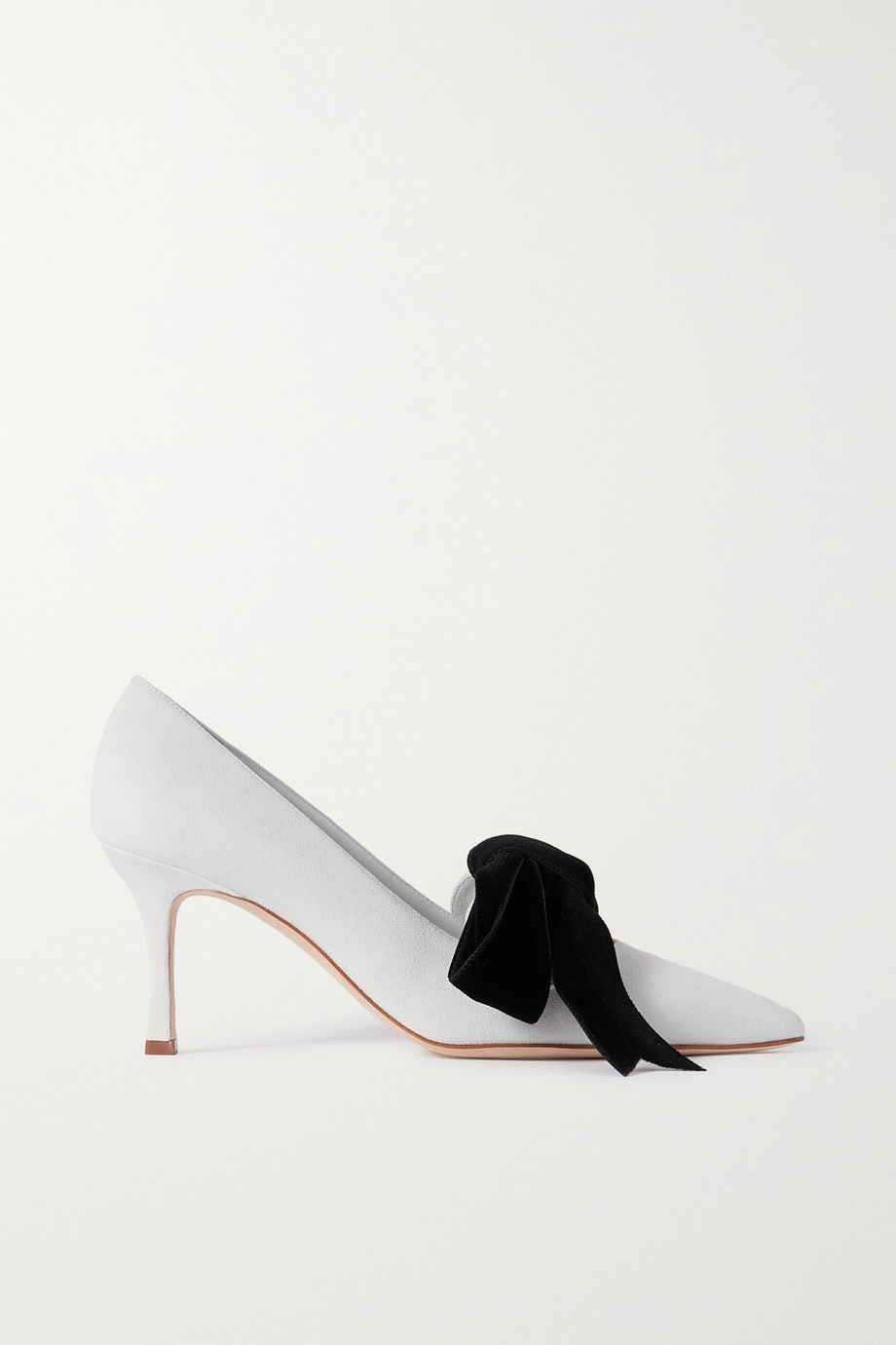MANOLO BLAHNIK Serba bow-detailed suede pumps