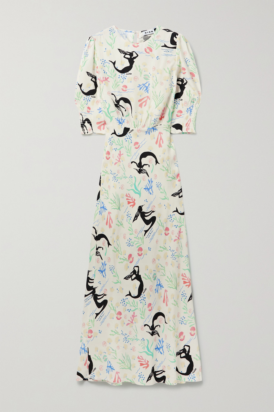 RIXO Lucile printed crepe maxi dress