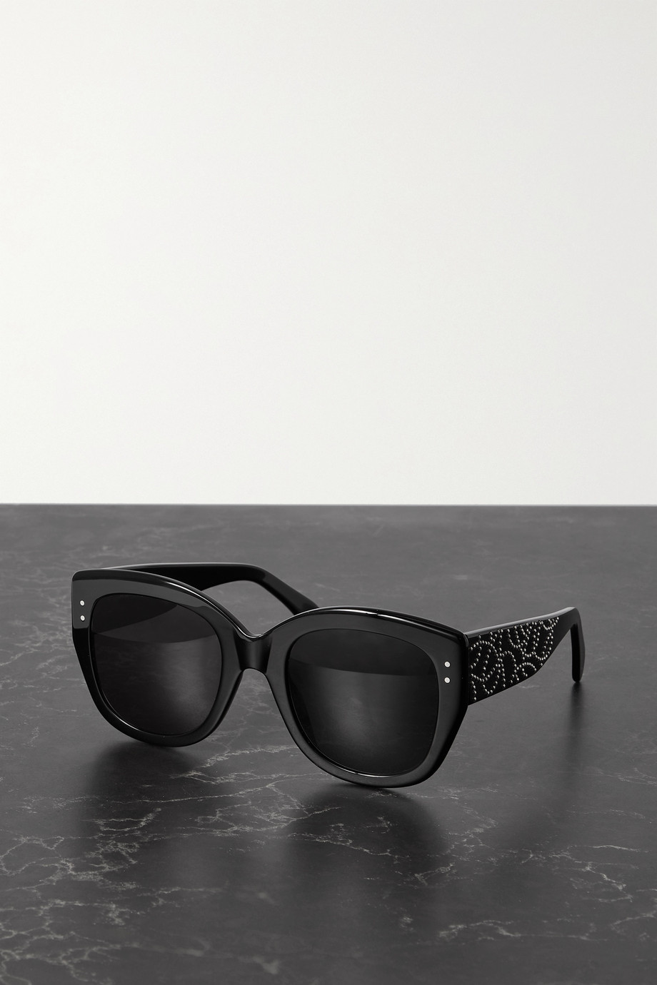 ALAÏA Oversized studded square-frame acetate sunglasses