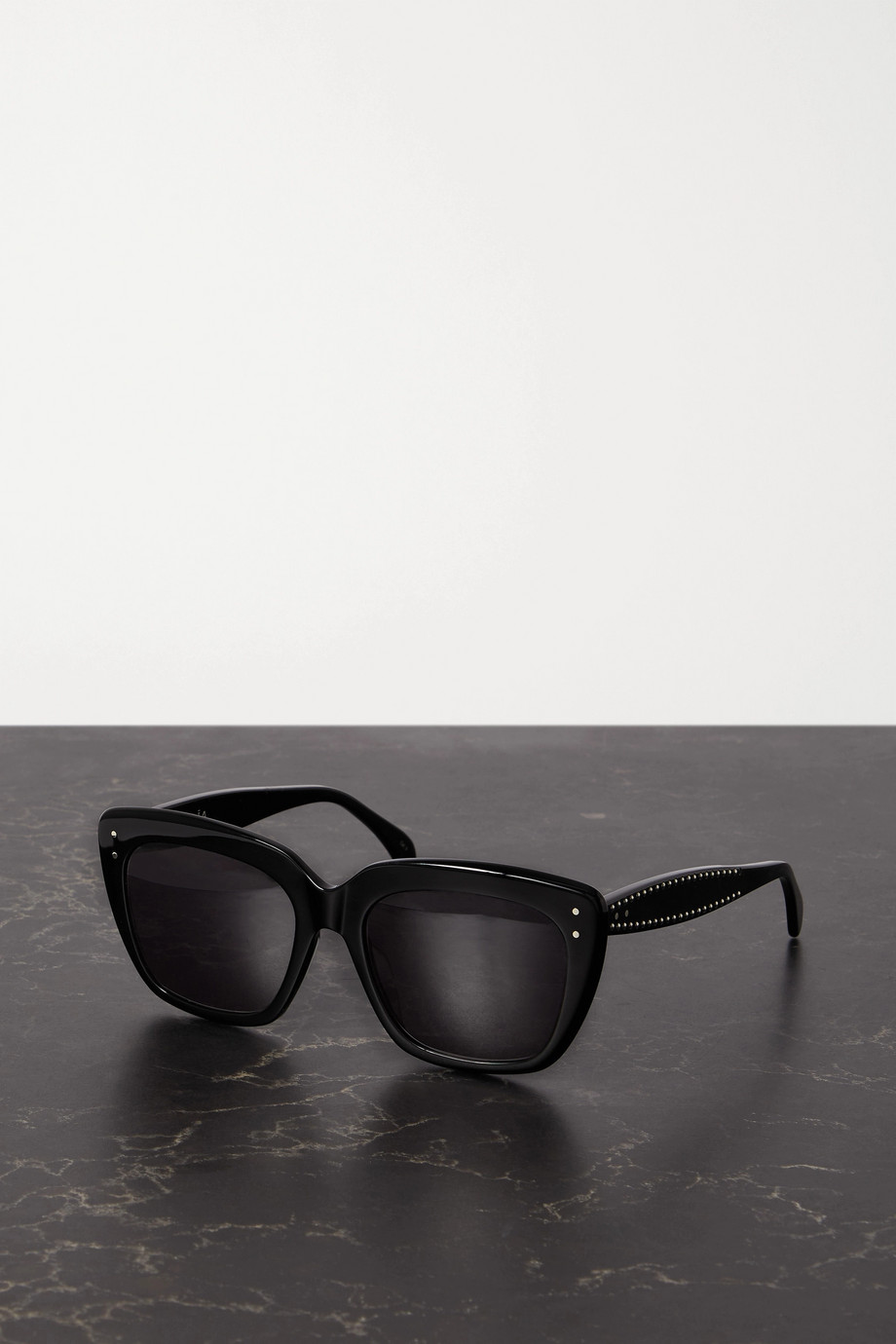 ALAÏA Studded square-frame acetate sunglasses