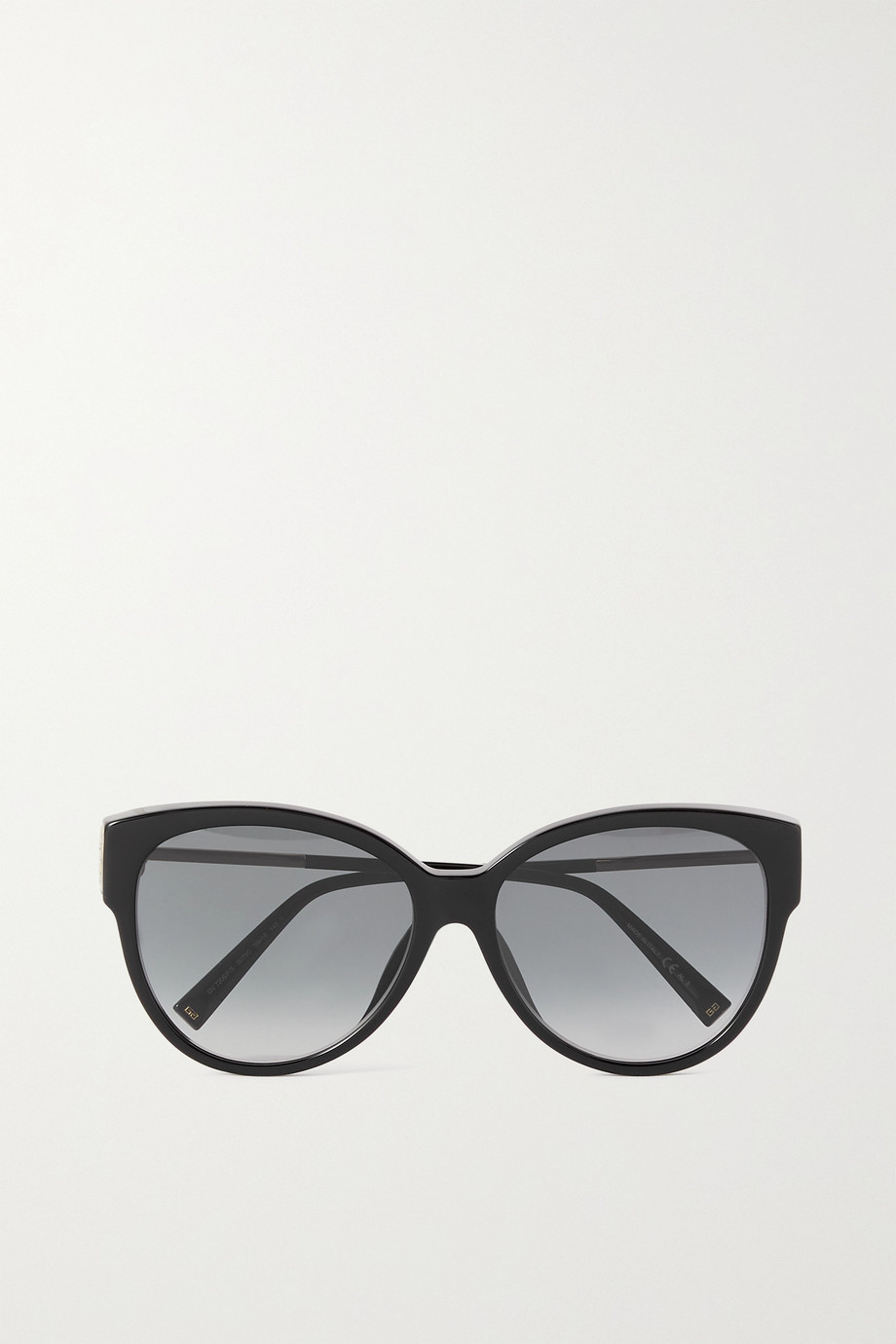 GIVENCHY Oversized cat-eye acetate and gold-tone sunglasses