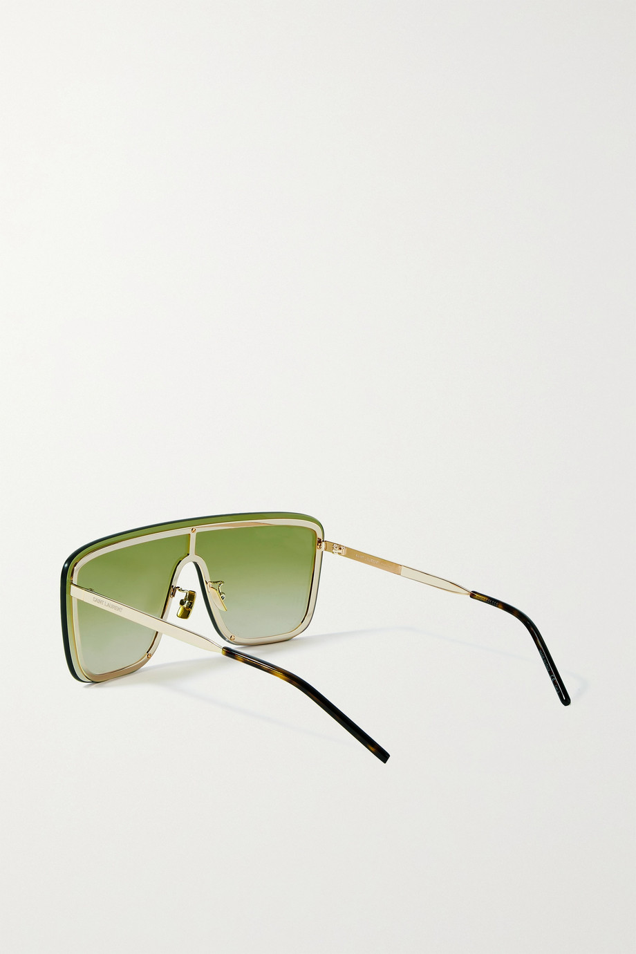 SAINT LAURENT D-frame gold-tone sunglasses