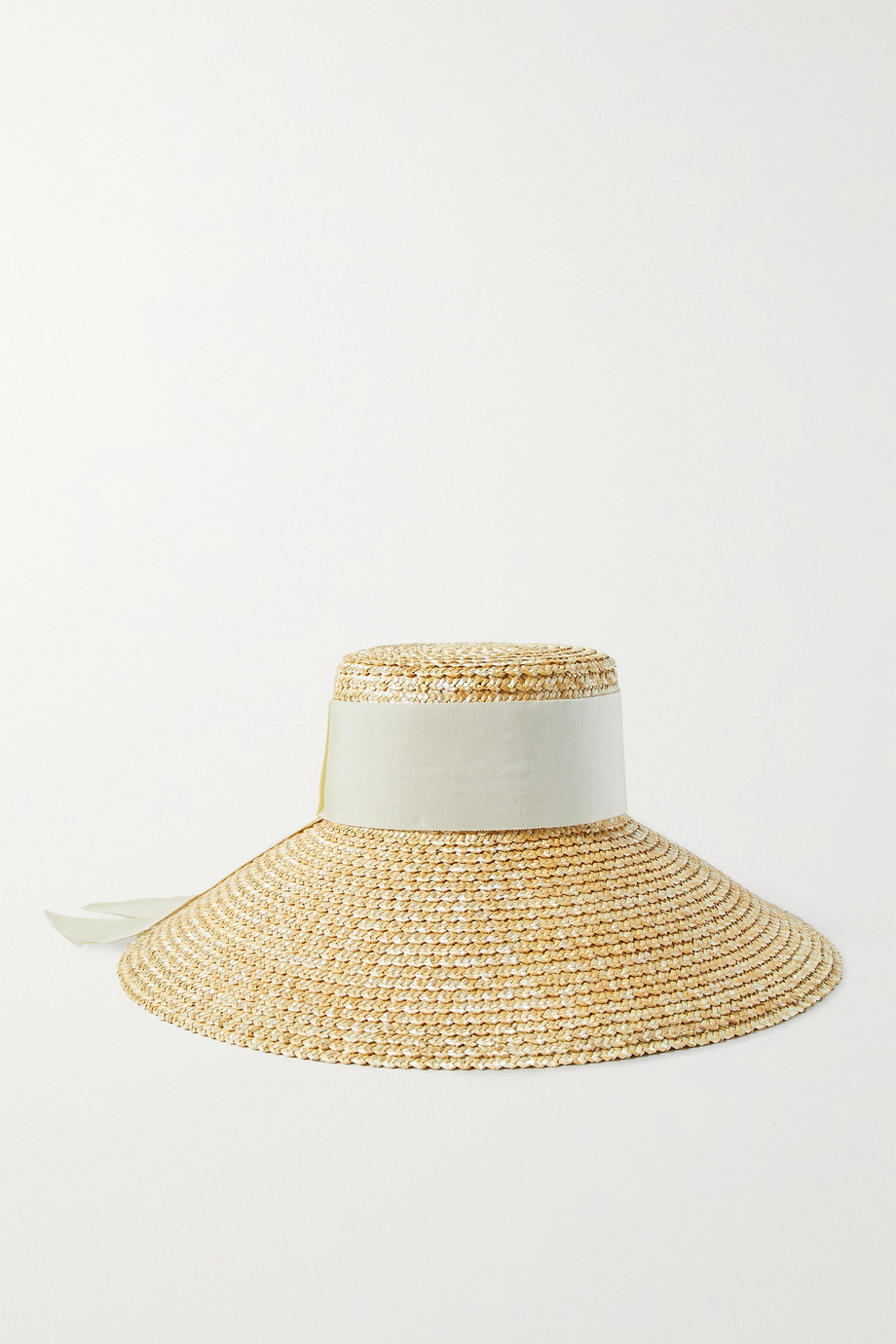 EUGENIA KIM Mirabel grosgrain-trimmed straw hat