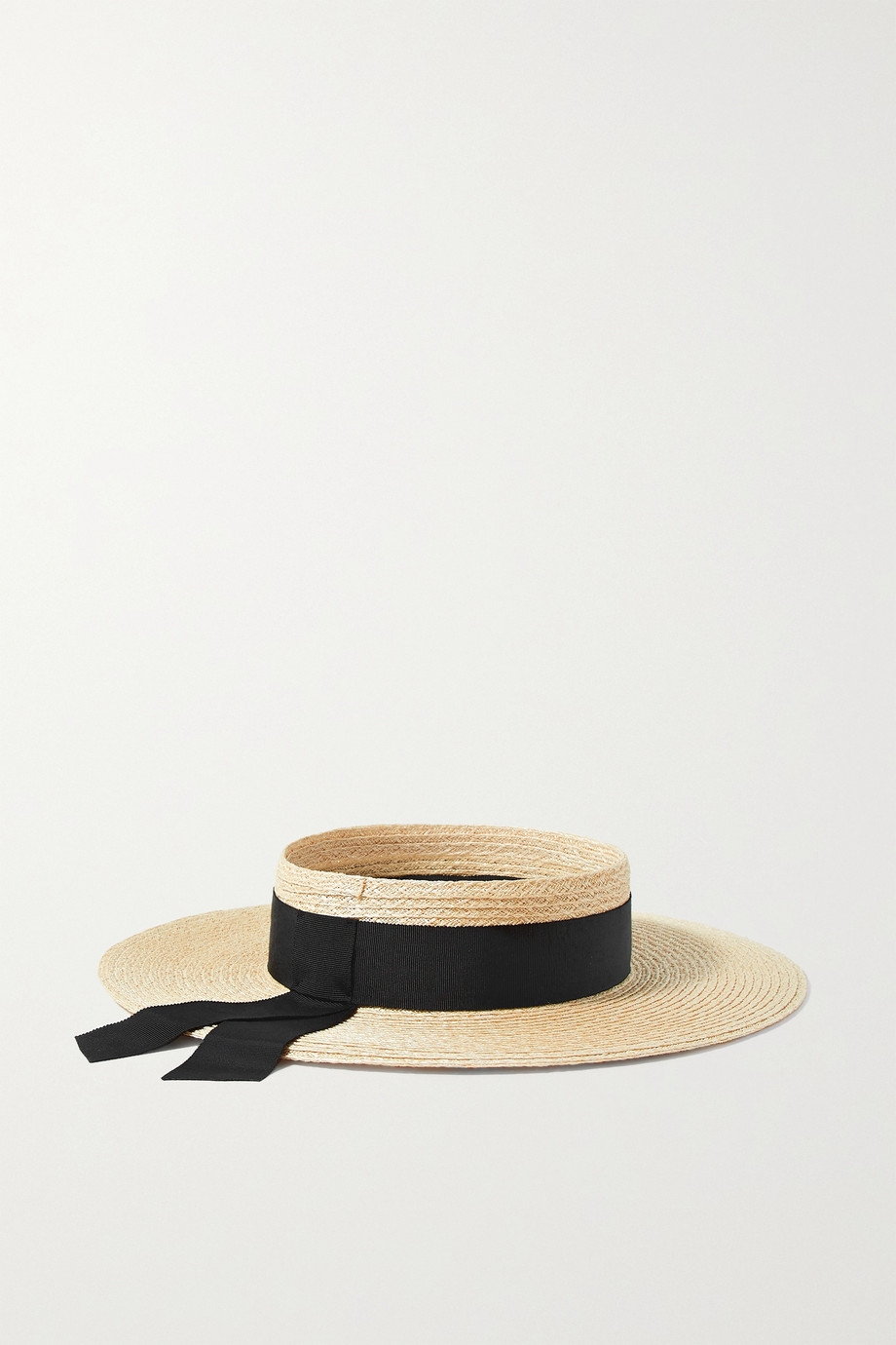EUGENIA KIM Lettie grosgrain-trimmed hemp-blend visor