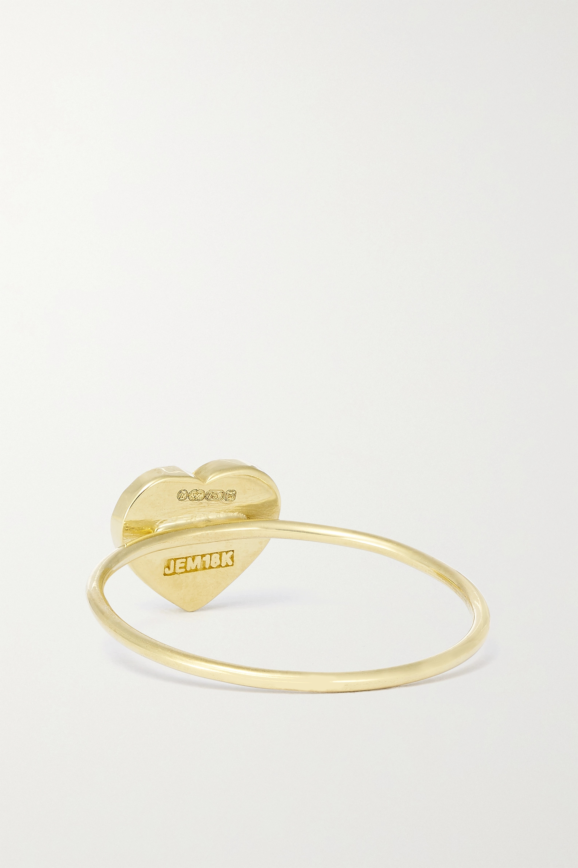 JENNIFER MEYER Extra Small Heart 18-karat gold, lapis lazuli and diamond ring