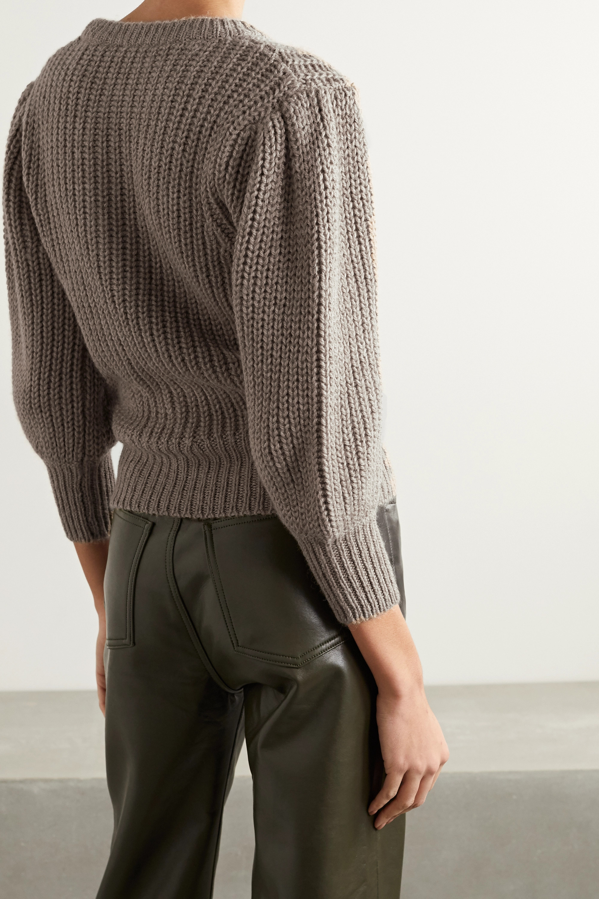 REFORMATION + NET SUSTAIN Moneta ribbed alpaca sweater