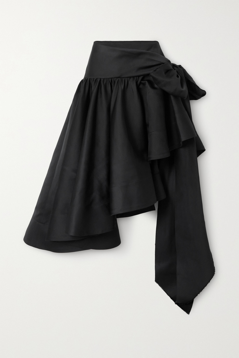 AZ FACTORY Switchwear asymmetric recycled duchesse-satin skirt