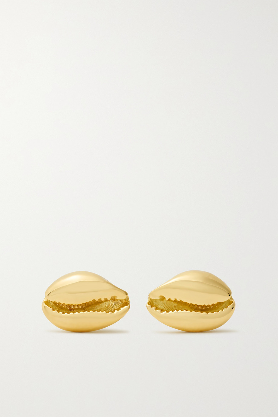 ALMASIKA Le Petit Cauri 18-karat gold earrings