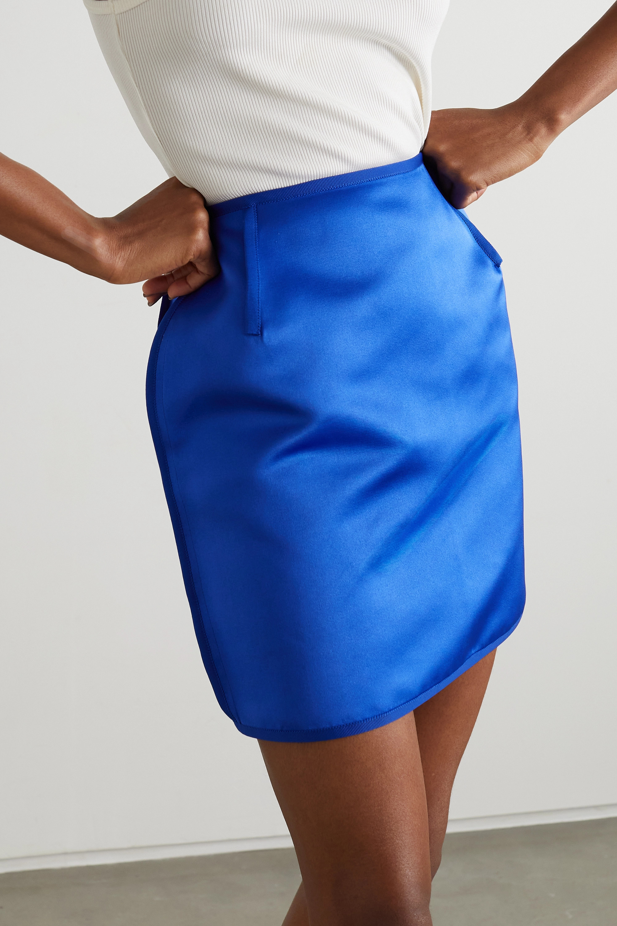 AZ FACTORY Switchwear recycled duchesse-satin mini skirt