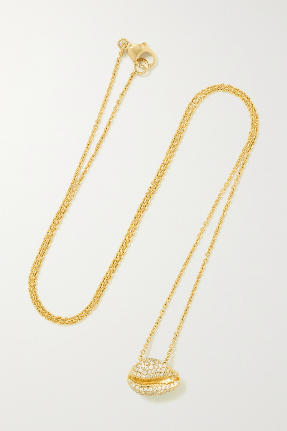 ALMASIKA Le Petit Cauri 18-karat gold diamond necklace