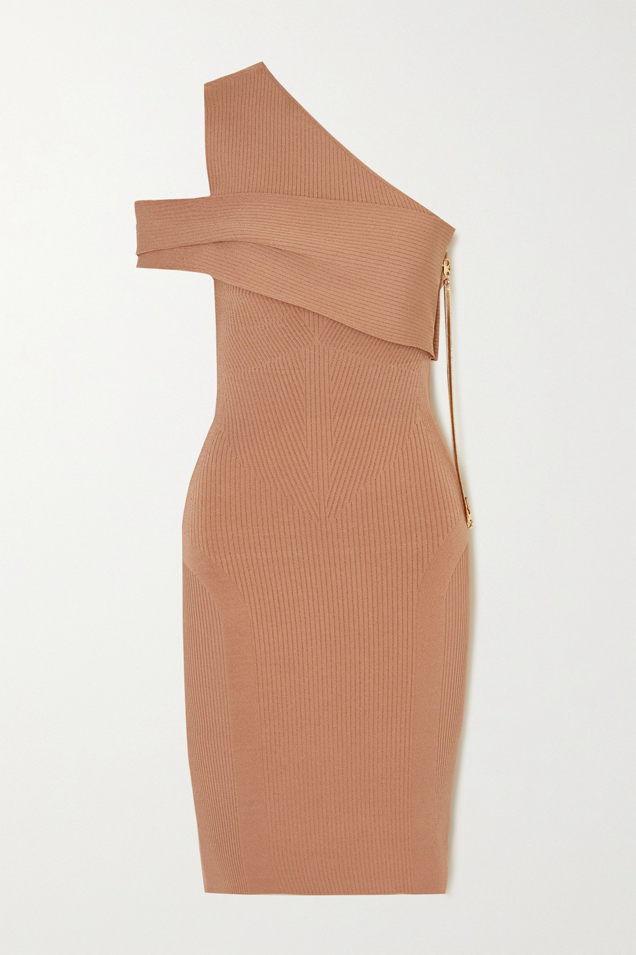 AZ FACTORY MyBody one-shoulder ribbed stretch-knit midi dress