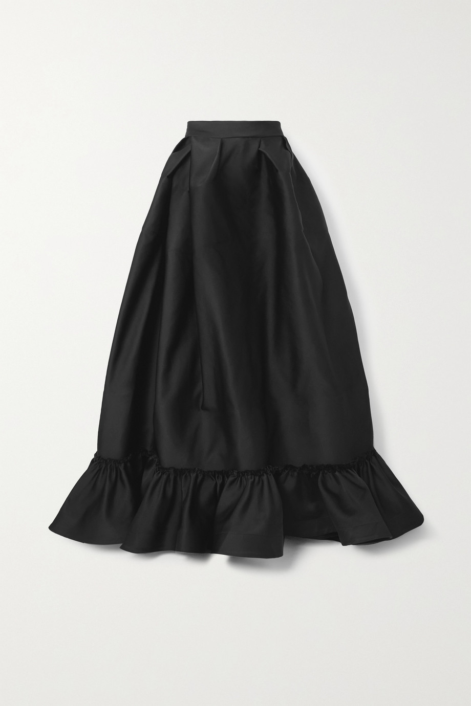 AZ FACTORY Switchwear bow-detailed recycled duchesse-satin maxi skirt