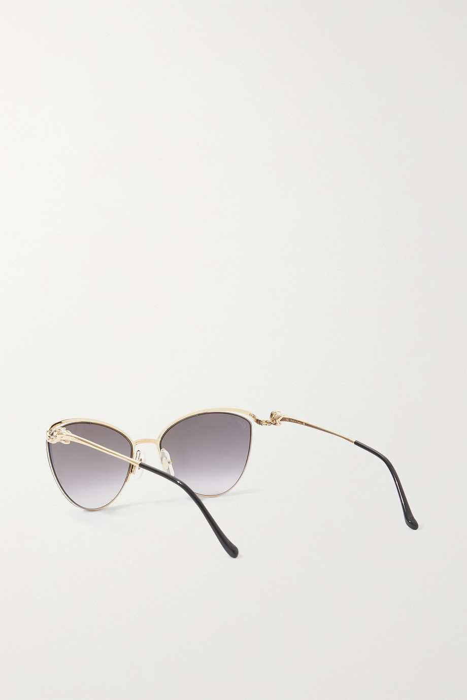 CARTIER EYEWEAR Panthère cat-eye gold-tone sunglasses