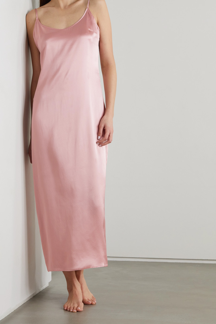 LA PERLA Silk-satin nightdress