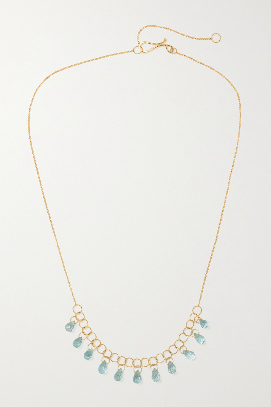 MELISSA JOY MANNING 14-karat recycled gold topaz necklace