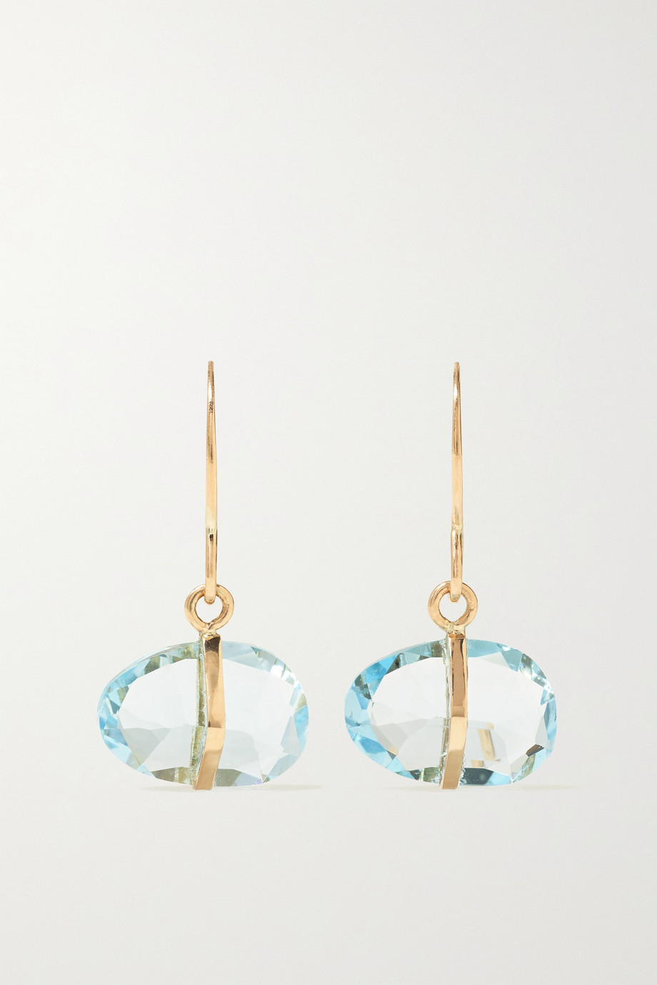 MELISSA JOY MANNING 14-karat recycled gold topaz earrings