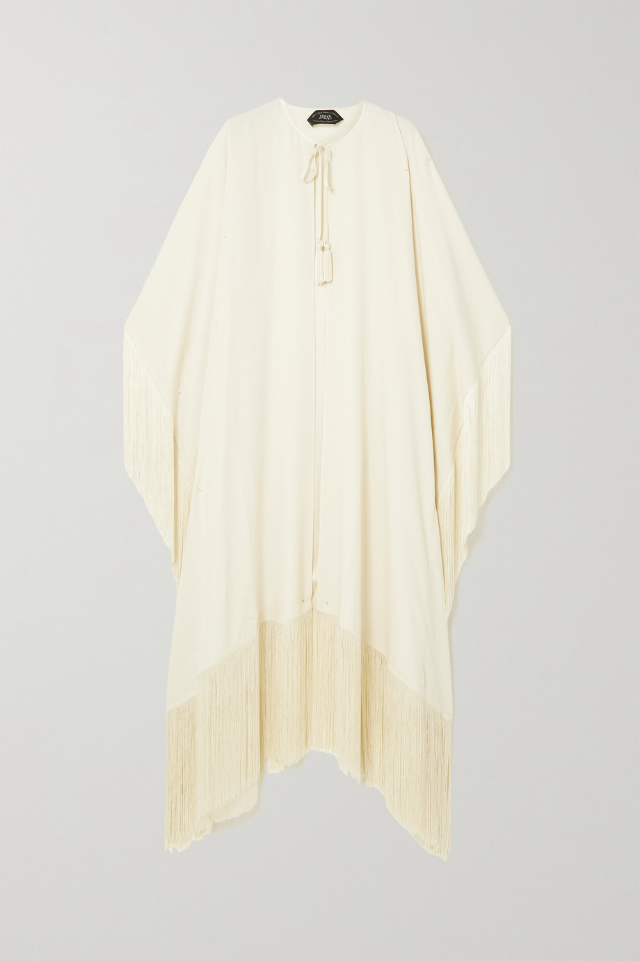 TALLER MARMO Lee fringed crepe coat