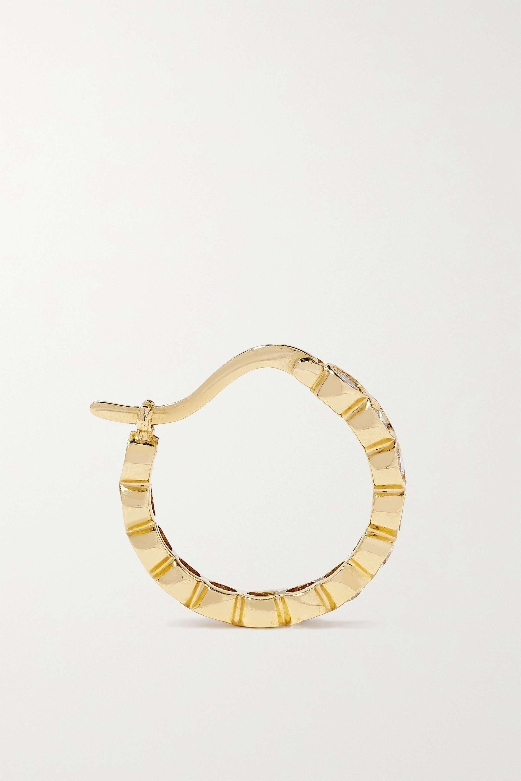 OCTAVIA ELIZABETH + NET SUSTAIN Petite Chloe recycled 18-karat gold diamond hoop earrings