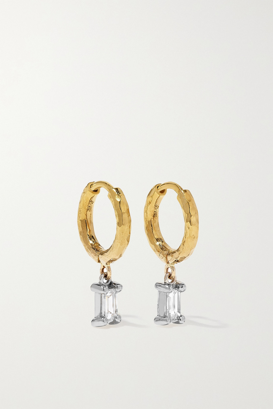 OCTAVIA ELIZABETH + NET SUSTAIN Micro Gabby recycled 18-karat gold diamond hoop earrings