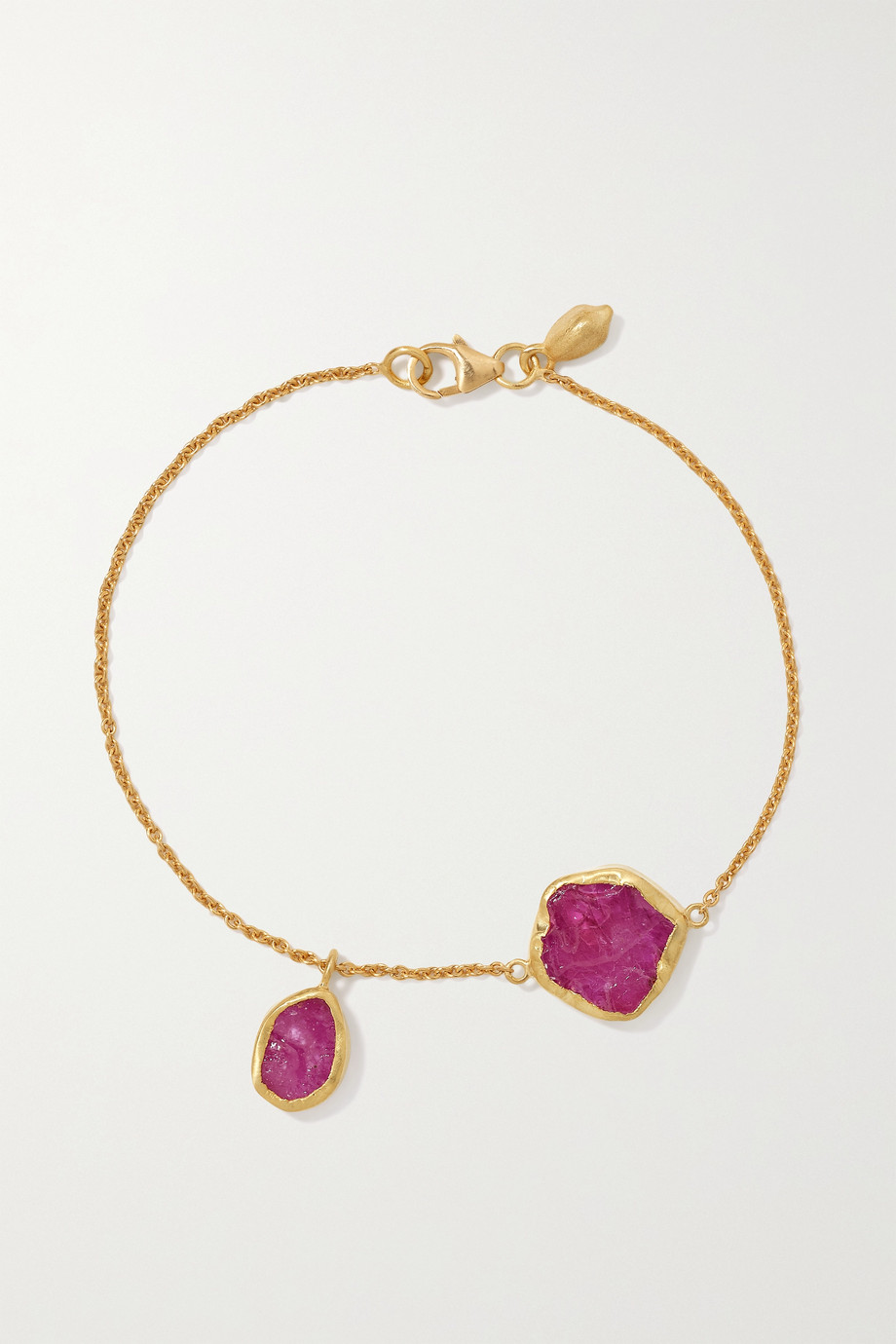 PIPPA SMALL 18-karat gold ruby bracelet