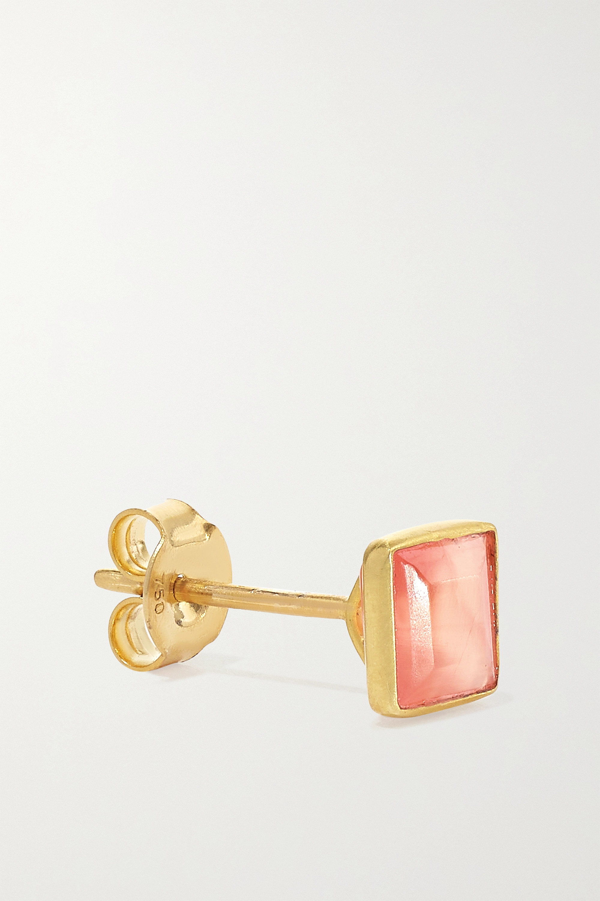 PIPPA SMALL 18-karat gold rhodochrosite earrings