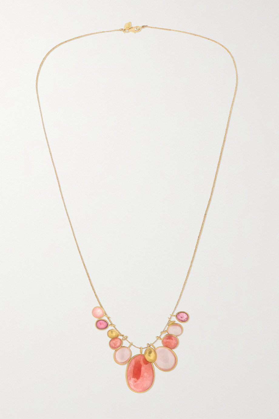 PIPPA SMALL 18-karat gold multi-stone necklace
