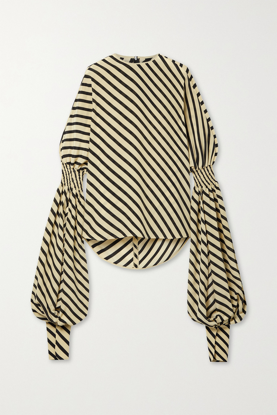PETAR PETROV Castel striped silk top